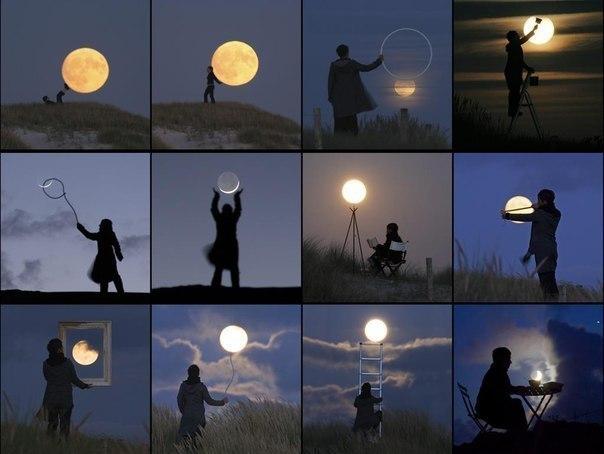 Ігри з місяцем (14 Фото)