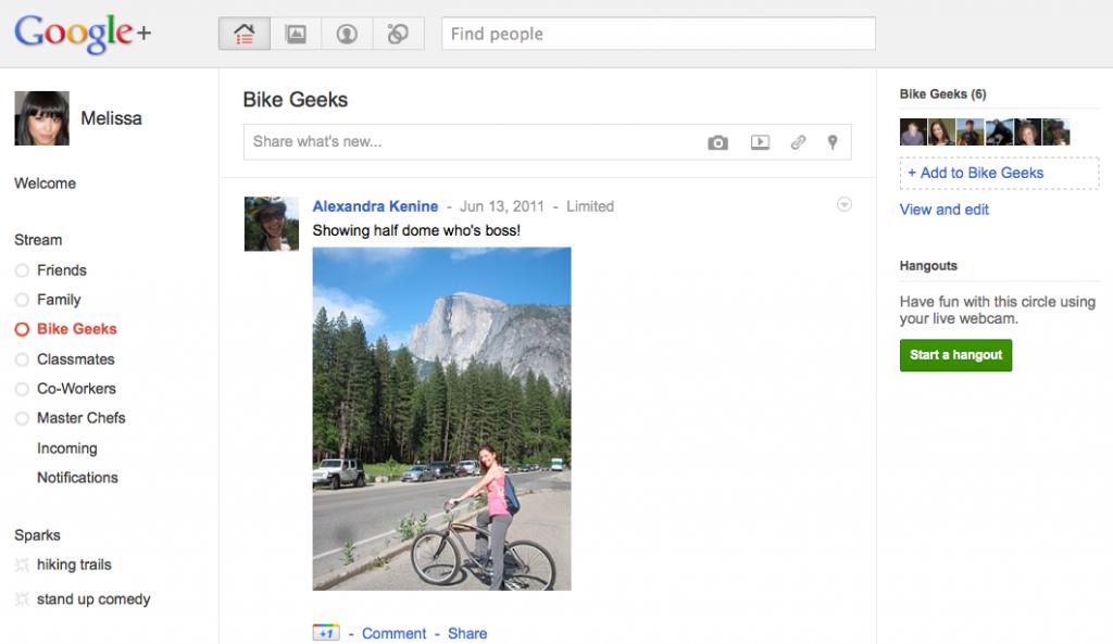 Google Plus. Загальний вигляд