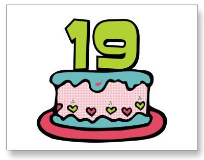 Мені сьогодні 19!
